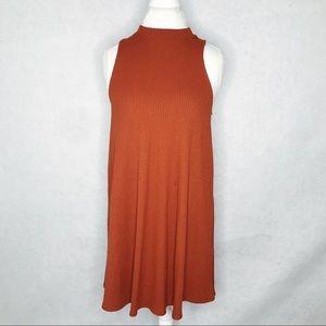 Forever 21 burnt orange ribbed dress size medium